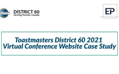 Toastmasters District 60 2021 Virtual Conference Website Case Study