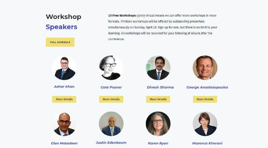 Toastmasters Workshop Speakers